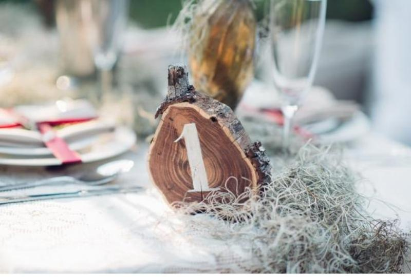 Picture Of intimate bohemian woodland wedding inspiration  12
