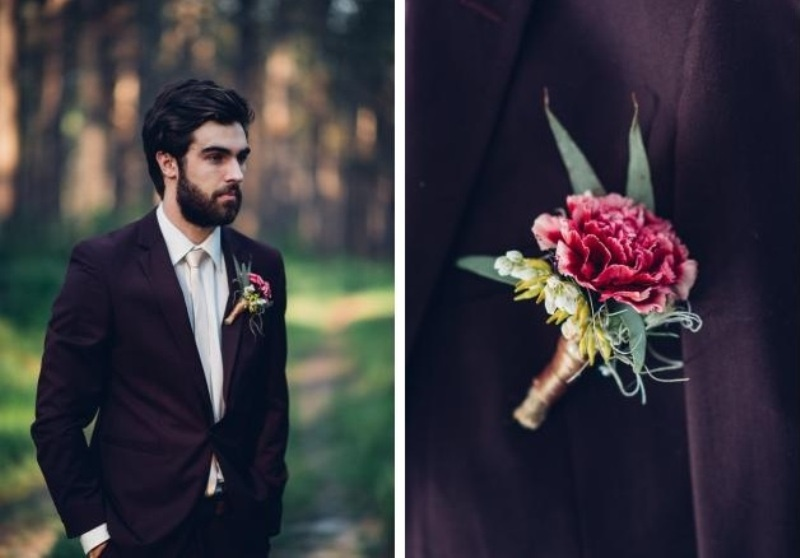 Picture Of intimate bohemian woodland wedding inspiration  13