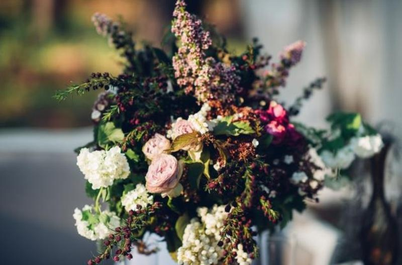 Picture Of intimate bohemian woodland wedding inspiration  14