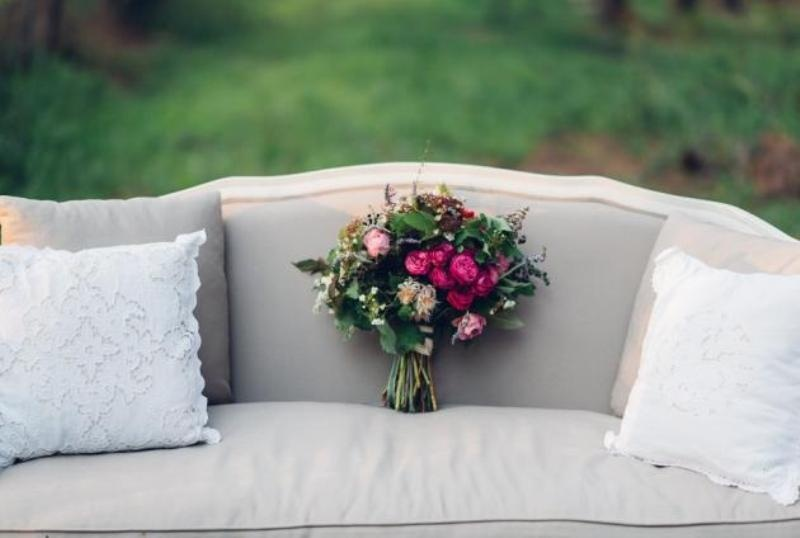 Picture Of intimate bohemian woodland wedding inspiration  15