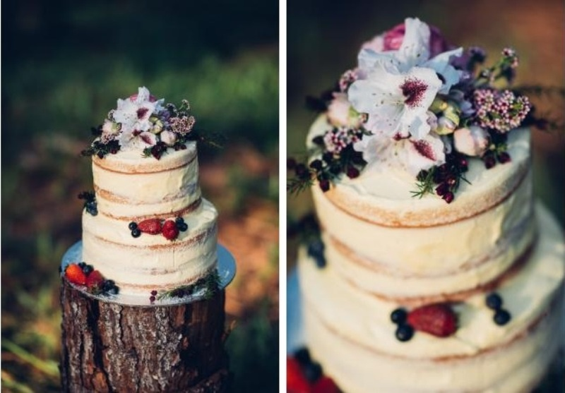 Picture Of intimate bohemian woodland wedding inspiration  22