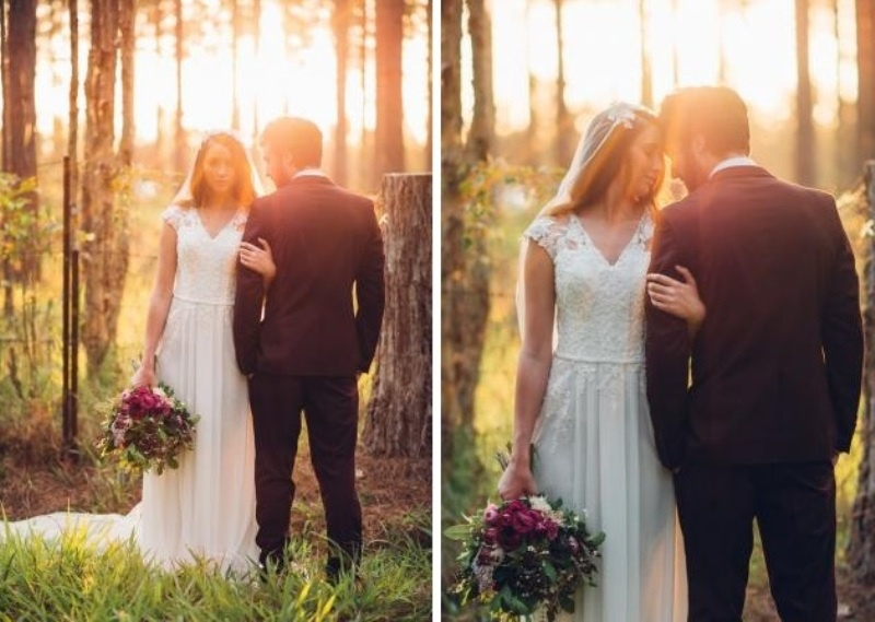 Picture Of intimate bohemian woodland wedding inspiration  25