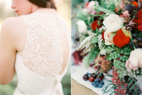 Intimate Ferns And Fruit Forest Wedding Inspiration