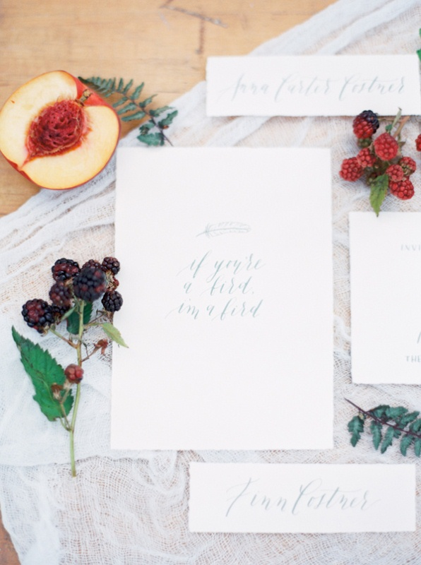 Picture Of intimate ferns and fruit forest wedding inspiration  2
