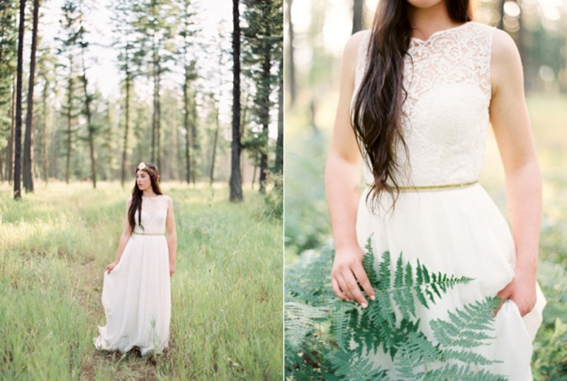 Picture Of intimate ferns and fruit forest wedding inspiration  3