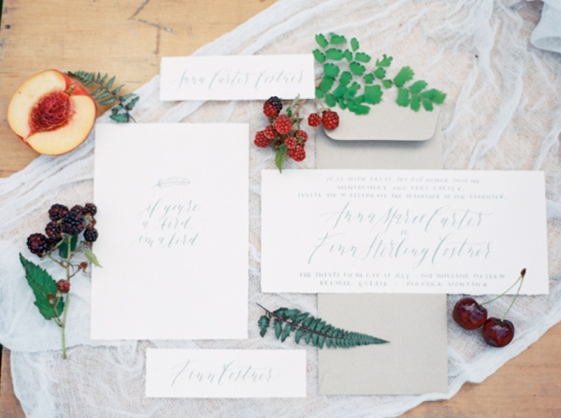 Picture Of intimate ferns and fruit forest wedding inspiration  4