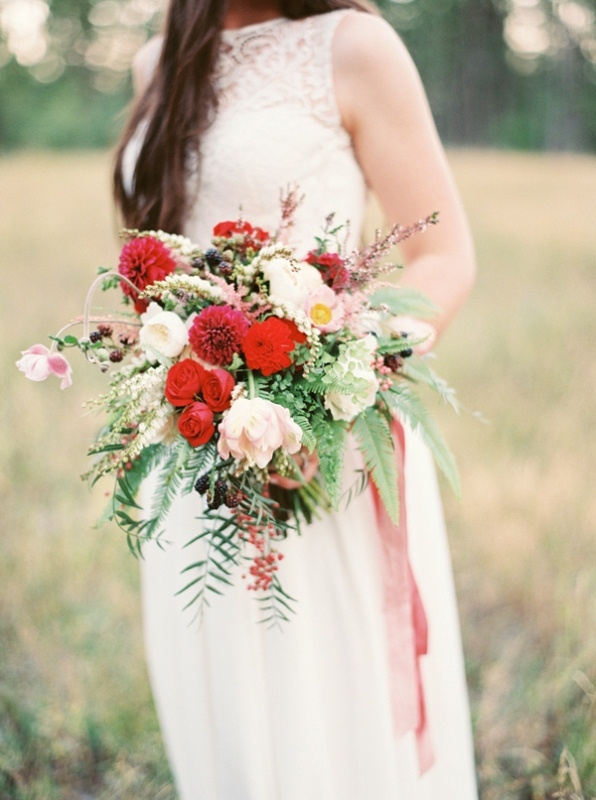 Picture Of intimate ferns and fruit forest wedding inspiration  5