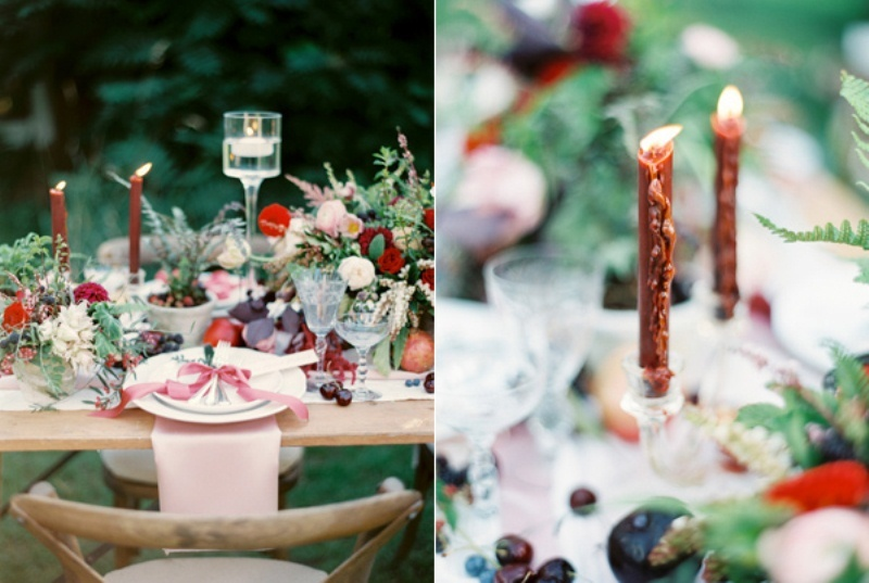 Picture Of intimate ferns and fruit forest wedding inspiration  6