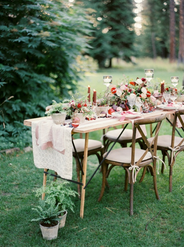 Picture Of intimate ferns and fruit forest wedding inspiration  7
