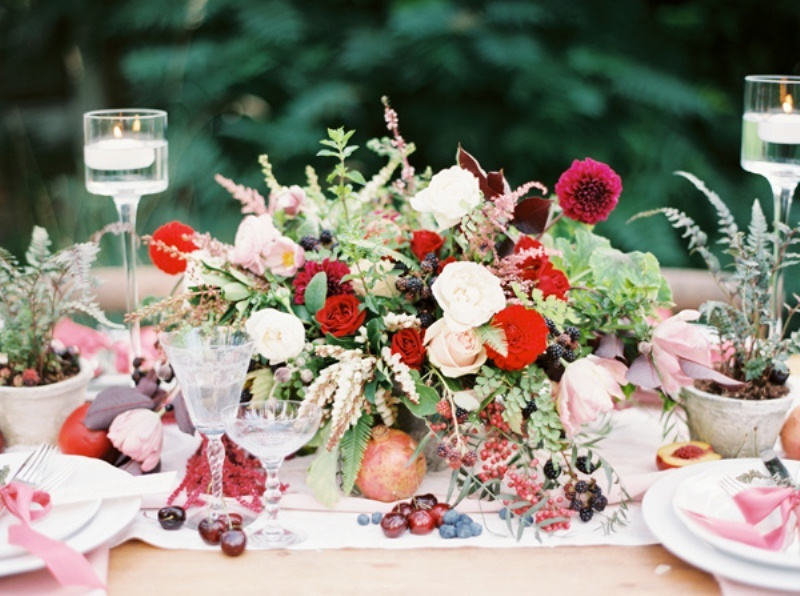 Picture Of intimate ferns and fruit forest wedding inspiration  9