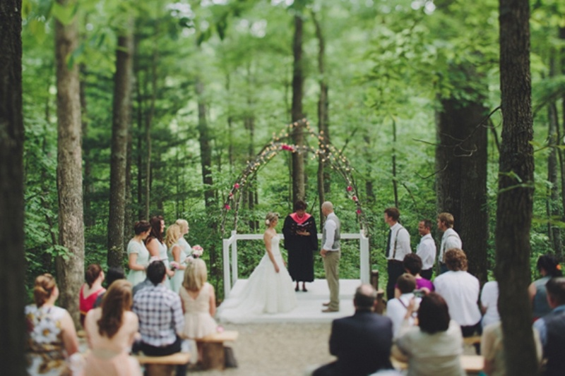Intimate Handmade Woodland Outdoor Wedding To Get Inspired