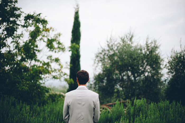 Picture Of intimate tuscan villa destination wedding under olive trees  10
