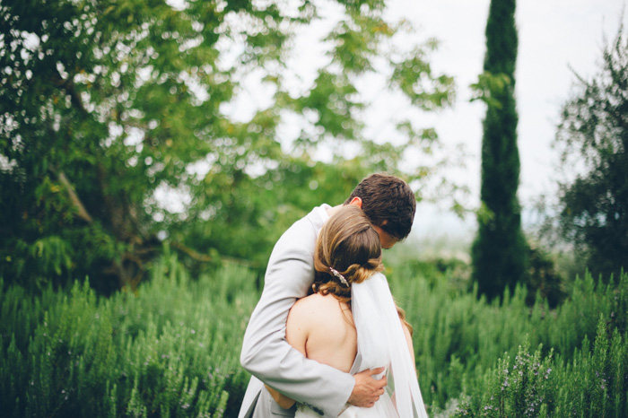 Picture Of intimate tuscan villa destination wedding under olive trees  11