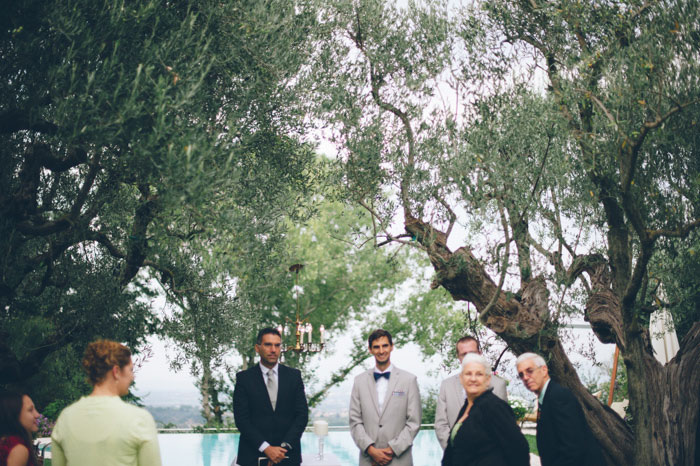 Picture Of intimate tuscan villa destination wedding under olive trees  14