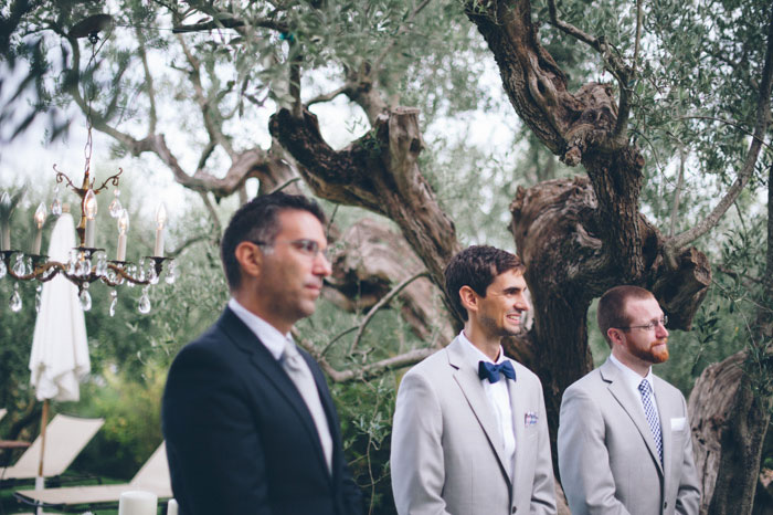 Picture Of intimate tuscan villa destination wedding under olive trees  15