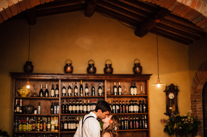 Picture Of intimate tuscan villa destination wedding under olive trees  23