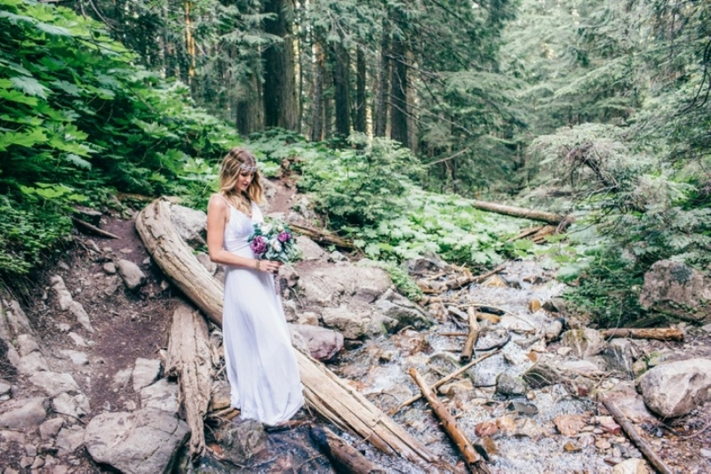 Picture Of intimate vintage inspired forest wedding  10
