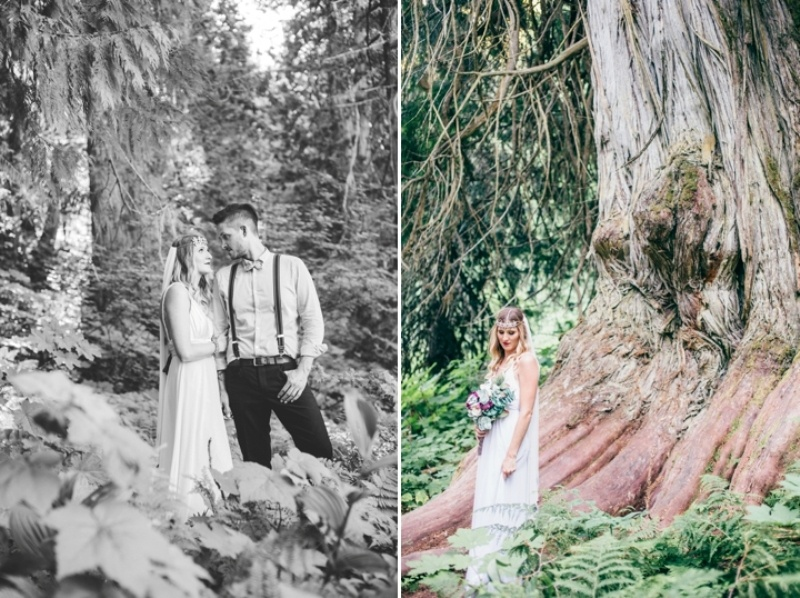 Picture Of intimate vintage inspired forest wedding  12
