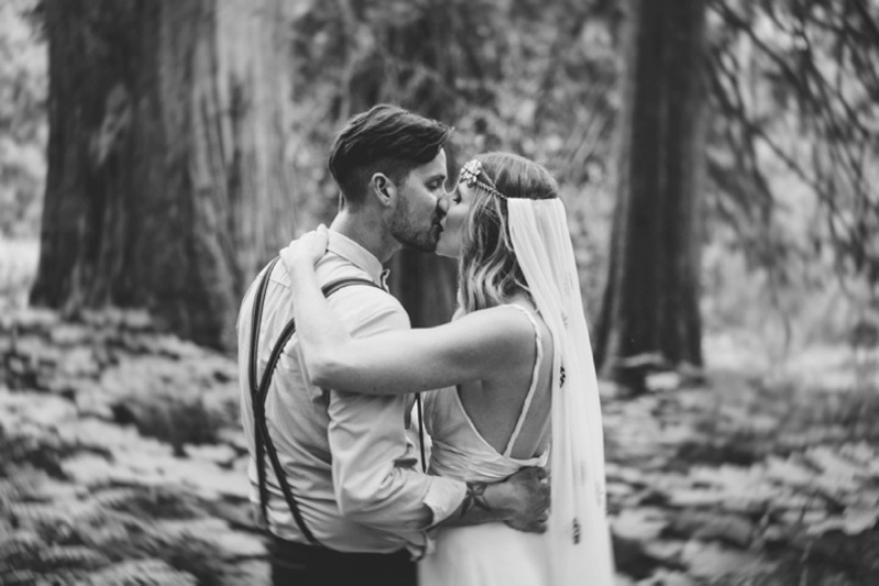 Picture Of intimate vintage inspired forest wedding  13