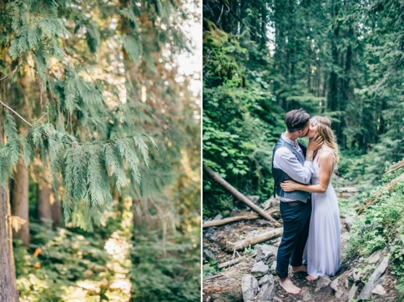 Picture Of intimate vintage inspired forest wedding  15