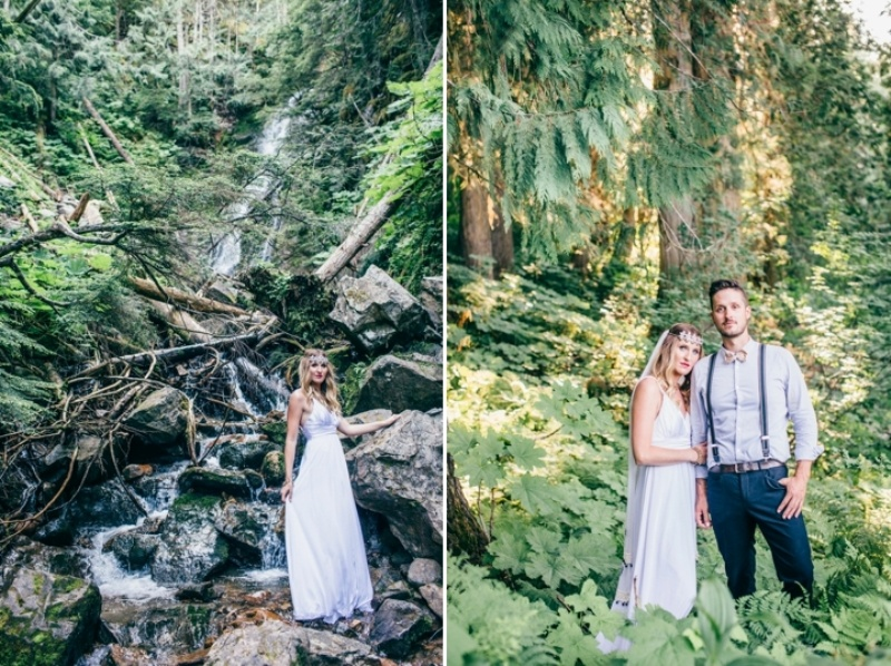 Picture Of intimate vintage inspired forest wedding  16