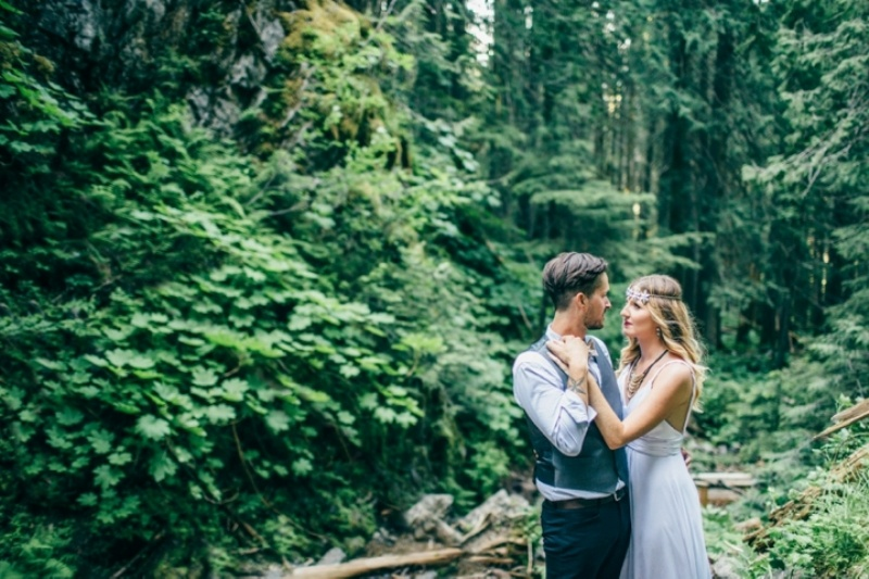 Picture Of intimate vintage inspired forest wedding  2