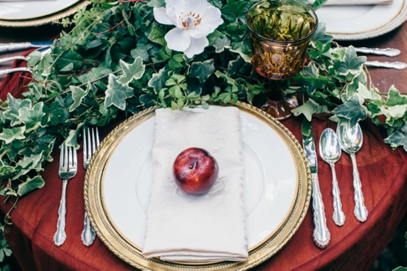 Picture Of intimate vintage inspired forest wedding  3