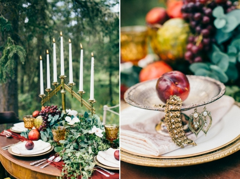 Picture Of intimate vintage inspired forest wedding  5