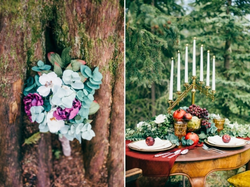 Picture Of intimate vintage inspired forest wedding  9