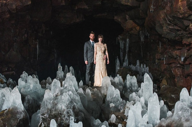 Picture Of intimate vow exchange on iceland honeymoon  1