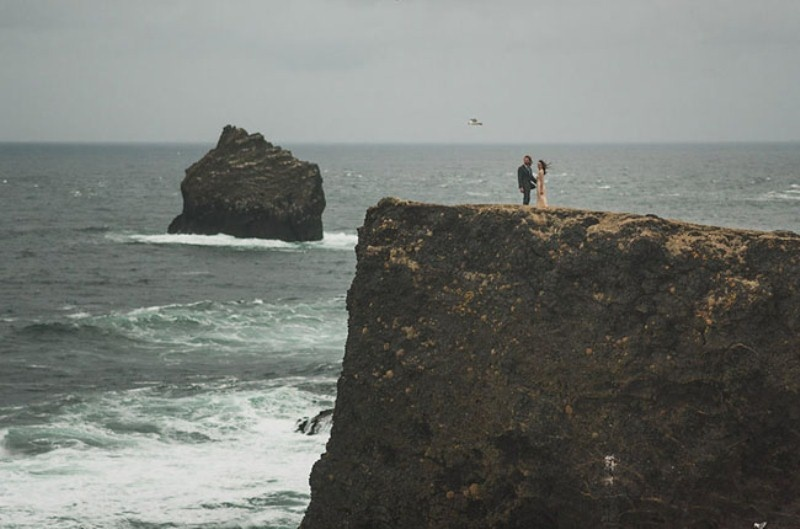 Picture Of intimate vow exchange on iceland honeymoon  18