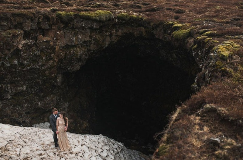 Picture Of intimate vow exchange on iceland honeymoon  2