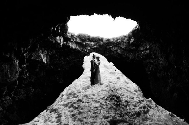 Picture Of intimate vow exchange on iceland honeymoon  8