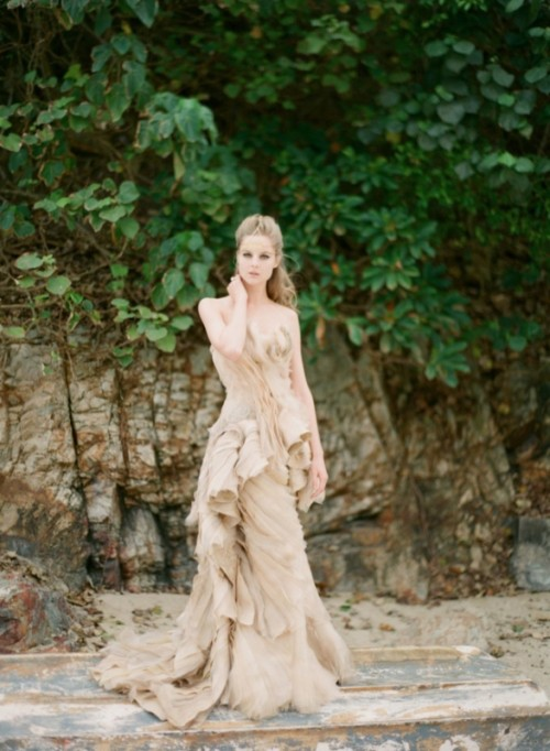 Intricate Sea Life Inspired Wedding Dresses By Vivian Luk ...