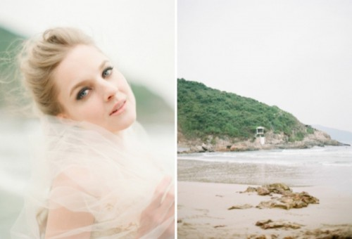 Intricate Sea Life Inspired Wedding Dresses By Vivian Luk
