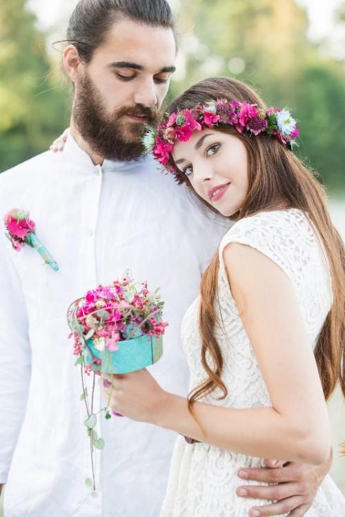Jewel Toned Relaxed Bohemian Wedding Inspiration