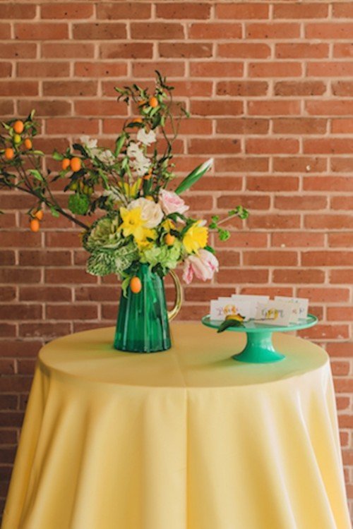 Joyful And Bright Summer Citrus Wedding Inspiration