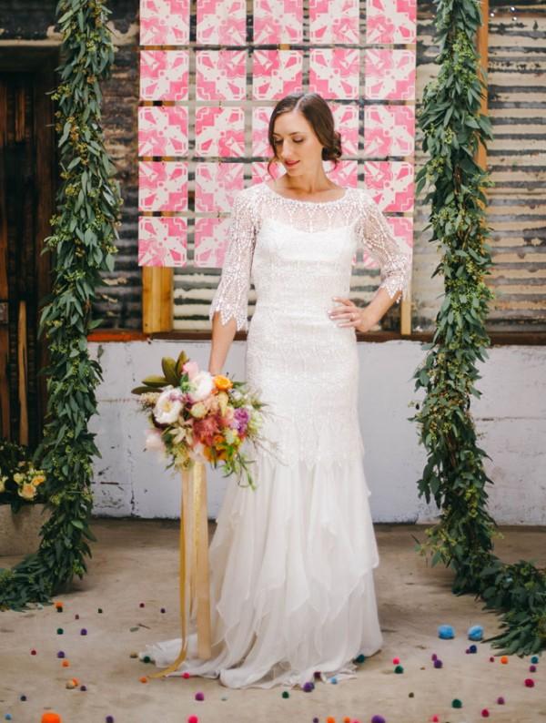 Picture Of joyful industrial playground elopement wedding inspiration  11