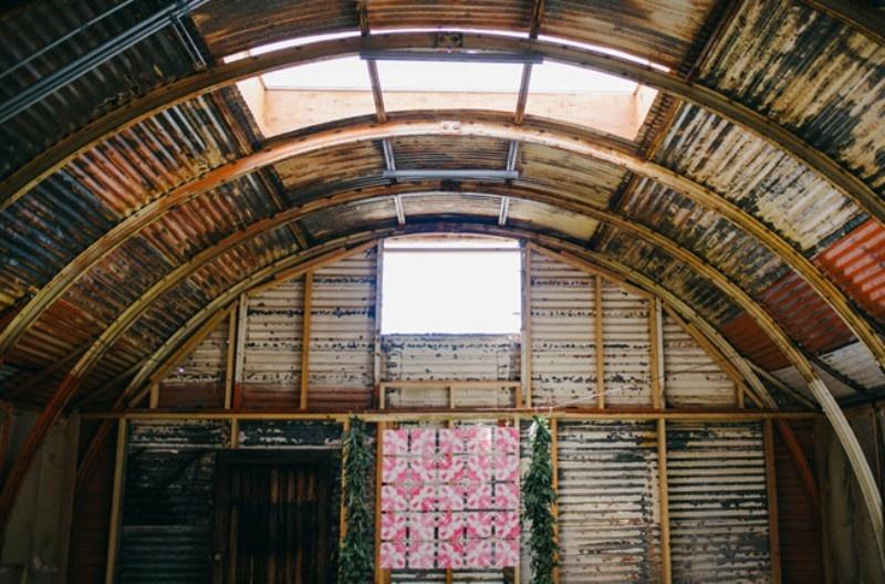 Picture Of joyful industrial playground elopement wedding inspiration  2