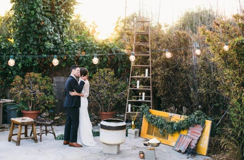 Picture Of joyful industrial playground elopement wedding inspiration  25