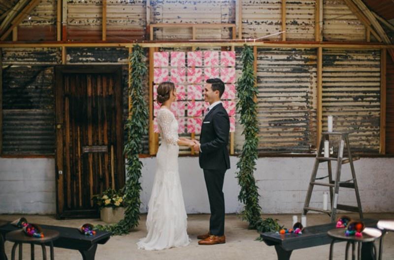 Picture Of joyful industrial playground elopement wedding inspiration  6