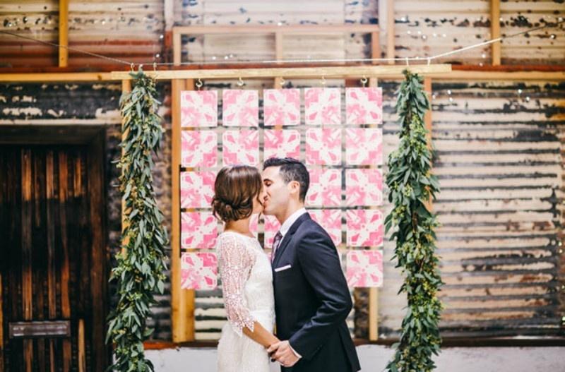 Picture Of joyful industrial playground elopement wedding inspiration  7
