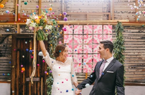 Joyful Industrial Playground Elopement Wedding Inspiration