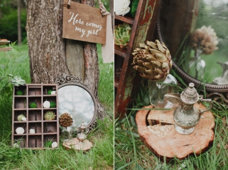 Picture Of joyful marsala woodland wedding inspiration  16