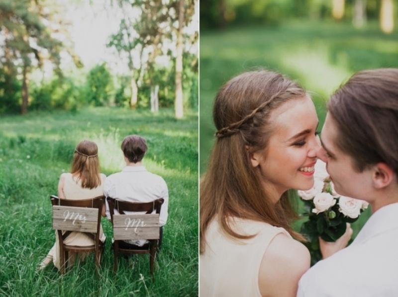 Picture Of joyful marsala woodland wedding inspiration  26