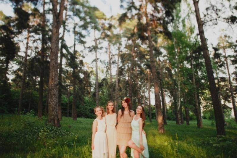 Picture Of joyful marsala woodland wedding inspiration  4