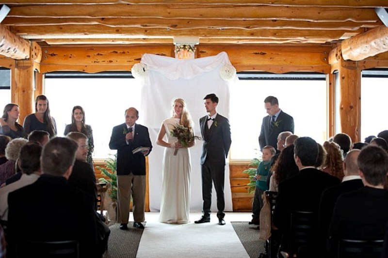 Picture Of Lake Louise Ski Resort Winter Wedding With Woodland Details 8