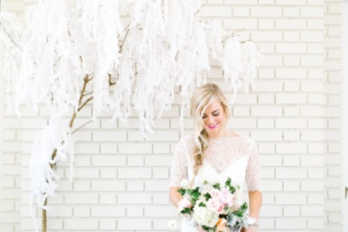 Light And Dreamy Paper Wisteria Backdrop