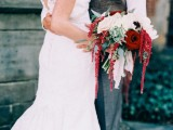 Love Letter Themed Wedding With Intense Red Color Palette