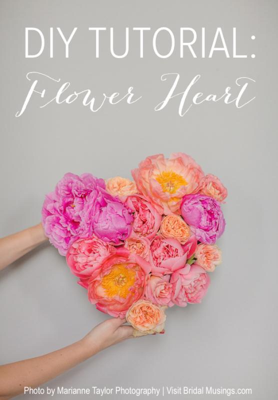 Picture Of lovely diy fresh flower heart  1